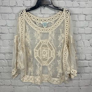 Sundance Geovanna Embroidered Crochet Top